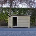 Geïsoleerd en geïmpregneerd houten hondenhok