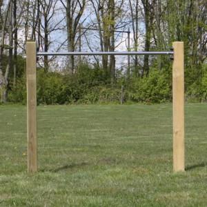 Duikelrek RVS - met 2 palen 125 cm