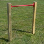 Duikelstang Rood - met 2 palen 900 mm
