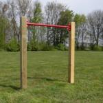 Duikelrek Rood - met 2 palen 90 cm