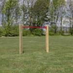 Duikelstang Rood - met 2 palen 125 cm