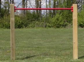 Tuimelrek Rood - met 2 palen 125 cm