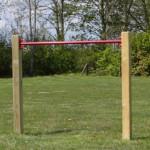 Duikelrek Rood - met 2 palen 125 cm