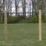 Duikelstang Groen - met 2 palen 125 cm