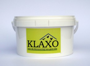 Klaxo witkalk 2,5ltr, als bloedluis preventie in kippenhok, vocht-absorberende werking
