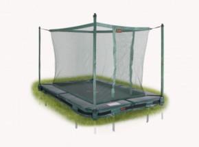 Avyna Pro-Line 213 trampoline InGround met veiligheidsnet Groen 2,75x1,90m