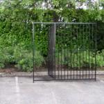Kennelpaneel zwart met deur 200x183 cm