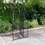 Kennelpaneel zwart met deur 100x183 cm