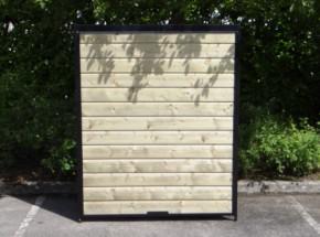 kennelpaneel zwart met hout 150x183
