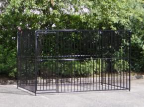 Hondenkennel Flinq zwart 2x3 m