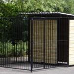 Hondenhok Fix Zwart gepoedercoat 2x3 met half dak