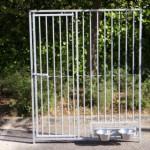 Kennelpanelen verzinkt, ook leverbaar met deur en draaibaar voedersysteem 150x183cm