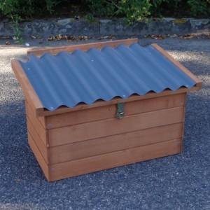 Legnest Universeel bruin met kunststof dak