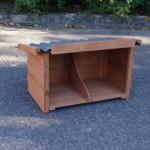 Legnest Universeel - bruin - met kunststof dak