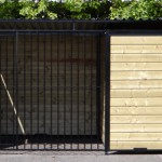 Hondenkennel Forz zwart 2x3 meter