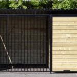Hondenren of hondenkennel Forz zwarte kennelpaneel 3x2 meter