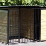 Hondenkennel FORZ Zwart met geisoleerd nachthok en vlonder 2x3m