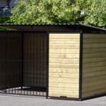 Hondenren FORZ Zwart met nachthok en vlonder 2x3m