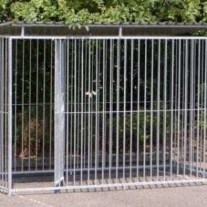 Metalen hondenren 1.5x3 met aluminium dakplaten