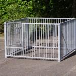 Puppyren van kennelpanelen, met deur 1,5x1,5m