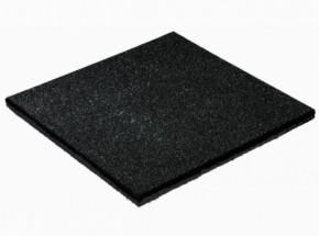 Rubber tegel zwart 25mm 50x50cm
