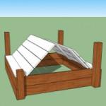 Zandbakdeksel voor Blue Rabbit speeltoren Beach Hut