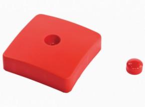 Duikelrek - rode afdekdop voor paal van duikelrek 88x88mm