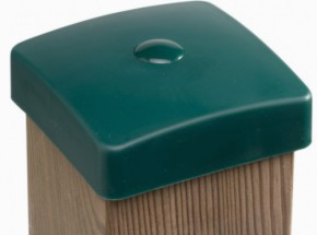 Afdekdop groen voor duikelrek paal 88x88mm