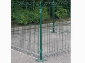 Afrastering - Groene Paal 125cm, met voetplaat