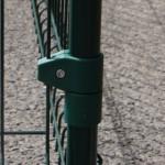 Gaasklem enkel groen Ø33 mm voor omheining