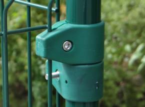 Afrastering: groene gaasklem enkel