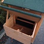 Nestkast met open deksel konijnenhok Holiday Medium Red.