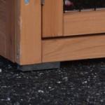 rubber voetjes konijnenhok
