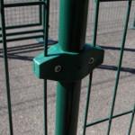 Gaasklem Groen Dubbel voor monteren van afrastering met gaaspanelen