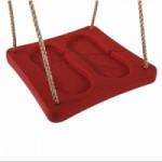 Kunststof voetschommel Rood - met PP-touw