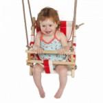 Stoffen babyschommelzitje met PP-touw
