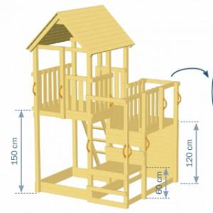 Afmetingen Speeltoren Blue Rabbit Penthouse 2.0
