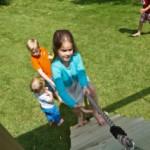 klimwand met dik touw