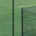 Kippenren voor op het gras   omheining voor zachte ondergrond