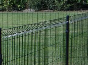 Omheining of afrastering voor uw tuin: zwart gecoate metalen gaaspanelen van 195x123cm