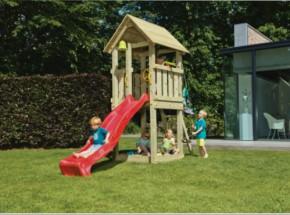 Blue Rabbit speeltoren Kiosk met glijbaan