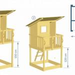 Afmetingen houten speeltoren Beach hut
