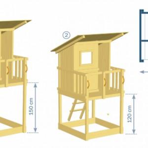 Speeltoren Beach Hut leveren wij in 2 verschillende plateauhoogtes