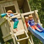 Speeltoren voor in de tuin, Beach Hut Laag met glijbaan