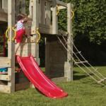Speeltoestel Penthouse - hier het laagste speelplateau (60cm) met glijbaan Toba