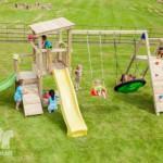Speeltoestel Blue Rabbit Cascade met glijbanen en aanbouwelement @challenger