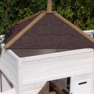 Verwijderbaar dak met dakleer kippenhok