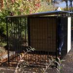 Hondenren FIX Zwart met dak 2x3m