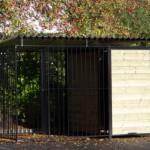 Hondenkennel FIX Zwart met dak 2x3m