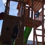 Speeltoren Blue Rabbit Penthouse Douglas met 2 glijbanen Luxe Douglas houtpakket, gratis gezaagd